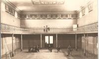 L'interno del Teatro Socjale da poco ultimato