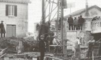 Porto di Riccione - Infissione di nuove targonate (anni '30)